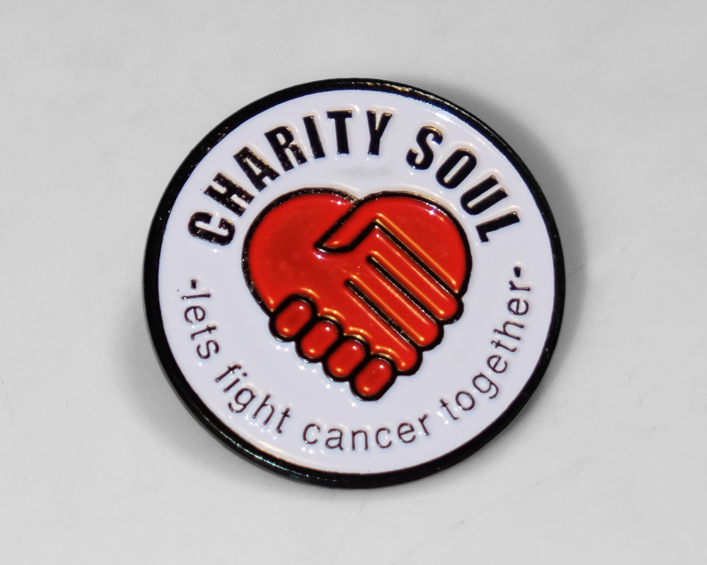Charity Soul White Pin Badge