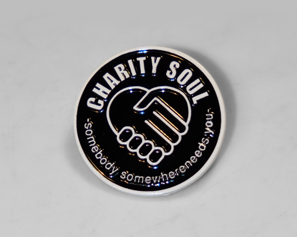 Charity Soul Black Pin