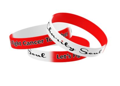 Charity Soul Red/White wrist band
