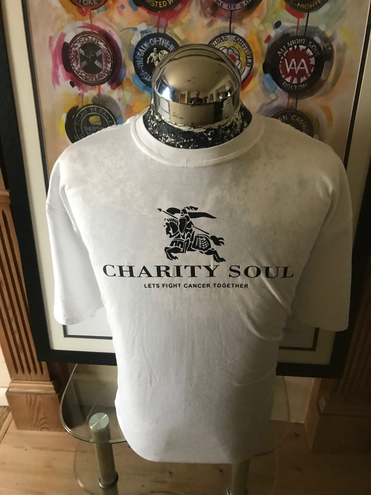 Cotton T-Shirt with Horse logo - White